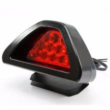 Brake Lights Universal F1 Style 12 LED Red Rear Tail Third Brake Stop Safety Lamp Light Car Car LED #2823