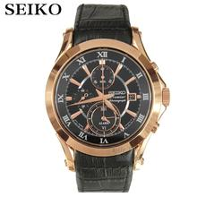 Seiko Watch Premier Series Sapphire Chronograph Quartz Men 's Watch SNAF24P1(China)