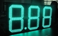 "12"" inch 8.889 led fuel price sign display for gas stations new electronics gas station led screen(China)"