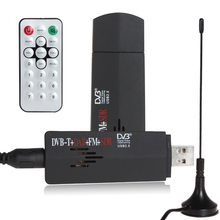 ROHS Mini Digital USB 2.0 TV Stick FM+DAB DVB-T RTL2832U + R820T Support SDR Tuner Receiver for Computer PC + Remote Control