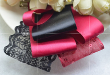 YY 6 patterns Grosgrain Classic Red Black Ribbon Set Fabulous Gorgeous Hairbow Crochet Lace Hair Accessory