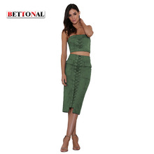 BETTONAL New 2017 Summer Fashion Women's Sets Quality Style Short Strapless Skirts Tops Shorts Skirt Set Women 2 Pieces F014