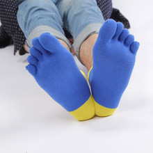 6pairs/lot Four Seasons Men Socks Cotton Five Finger Toe Breathable Mesh Absorb Sweat  Boy Elasticity Sock WZ94