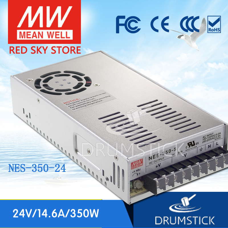 MEAN WELL NES-350-24 24V 14.6A meanwell NES-350 350.4W Single Output Switching Power Supply [Hot1]<br>