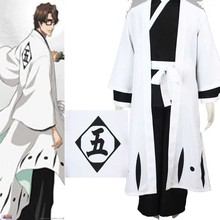 Death Bleach 5th Division Captain Aizen Sousuke Cosplay Costume Customized Suit