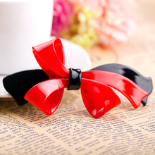 Aiccyo 2016 New High Quality Korean Style Girls Hair Accessories Barrettes Ladies bows Hair Clip Spring Top Clip Free Shipping