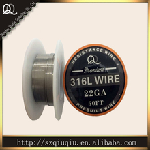 Best quality SS 316L Resistance Wire 22ga 50ft for ecigarette WIRE coils