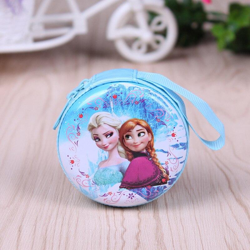 Hot sale cartoon coin purse Elsa Anna princess girls key case wallet children snow queen headset bag coin bag<br><br>Aliexpress