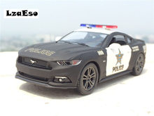 1:38 Mustang GT Police Alloy Diecast Model Car Pull Back Vehicle Toy Collection As Gift For Boy Children(China)