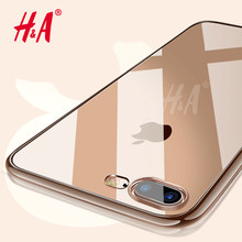 H&A Ultra Thin transparent TPU Case For iPhone 8 7 Plus cases cover clear silicone Soft Case For iPhone 8 7 8 Plus Phone Case