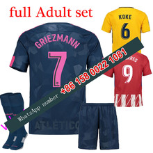 2017 2018 Atletico Madrided set jersey 17 18 Home Away football camisetas Thai AAA shirt survetement football Soccer jersey(China)