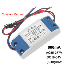 Constant Current LED Driver 6-10x3W 600mA 18-34V 18W 21W 24W 30W 600 mA External Lamp Light Power Supply Lighting Transformer
