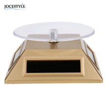 100*100*40mm Solar Automatic Rotating Stand Ring Bracelet Jewelry Display Rack Holder ABS Acrylic Watch Showcase 2017 HOT SALE