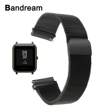 Buy Milanese Stainless Steel Watchband Xiaomi Huami Amazfit Bip BIT PACE Lite Youth Watch Band Magnet Strap Wrist Bracelet Black for $7.99 in AliExpress store