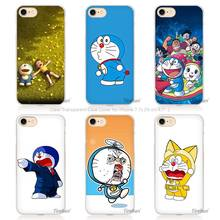Ocean Cartoon Cat Doraemon Hard Transparent Phone Case Cover Coque for Apple iPhone 4 4s 5 5s SE 5C 6 6s 7 Plus