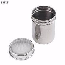PREUP High Quality Stainless Coffee Sifter Chocolate Shaker Cocoa Flour Coffee Cinnamon Powder Kitchen Filter Cooking Tool(China)