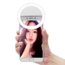 2017 New Portable Universal Selfie Ring Flash Led Light Lamp Mobile Phone Lens Led Selfie Lamp Ring Flash For Iphone Samsung HTC(China)