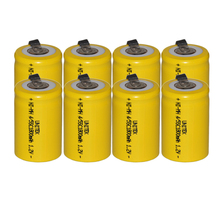 8PCS Sub C 4/5SC 1.2V rechargeable battery 1800mah ni-mh nimh cell with welding legs pins tab for vacuum cleaner electric drill(China)