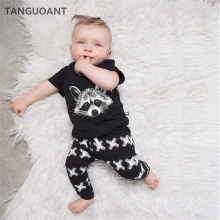 TANGUOANT Baby Boys Clothing Sets Baby Girls Boys Fox Cotton Tops T-shirt+Pants Leggings 2pcs Outfits Set Costume Boys Clothes(China)