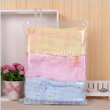 ROCOHANTI 50pcs/lot Recycle Half Clear Underwear Packaging Bags Plastic Shopping Bag 30*40cm , Accept Custom Order(China)