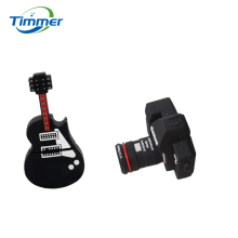 Black Guitar Camera USB Flash Drive Cool Band Guitar Bass 16GB 8GB 4GB Pen drive Memory stick U disk