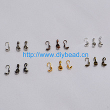 200pcs/lot Cord End Hooks Cover Connectors to link Clasp for Necklace Bracelet chain DIY Jewelry Findings Metal Accessories