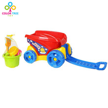 Children Sand Playing Tool Toy Truck with Shovel&Rake&Water Pail Beach Toys(China)