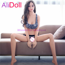 Buy Top Quality 140cm/148cm/158cm/168cm Real Silicone Sex Doll Anime Love Doll Dropshipping Rubber Woman Boneca Sexual Free Shipping
