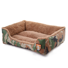Free Shipping Camouflage Pet Bed Warming Dog House Soft Fibber Dog Cat Kennel Warm Winter for Dog Cat Pet Products