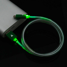V8 Universal LED Micro USB Cable 4 Colors 1M Light Durable Microusb Charger Data Sync Cord For Samsung For Android Phone