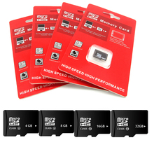 high Quality Black Memory Card 32GB 16GB Class10 8GB 4GB Real Capacity Micro sd card MicroSD TF Card red blister(China)