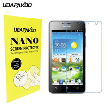 Soft Glass film Nano Explosion-proof glass Screen Protector for Huawei U8950 U8950D G600 U9508 T8950 C8950D Honor 2
