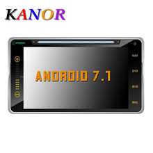 "KANOR 6.95"" 2Din 1024*600 Android 7.1 Car PC Tablet 2 din Universal For Toyota RAV4 Corolla Vios Hilux Fortuner Prado Terios(China)"