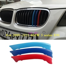 3D Colors For 2003-2012 BMW 3 Series E90 Car Front Grille Trim Strips Cover Motorsport Stickers Car-styling 316i  318 320 325 et