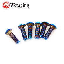 VR RACING- 6PC/LOTS Burnt Titanium Steering Wheel Bolts Fit a lot of steering wheel Works Round Boss Kit VR-LS06R