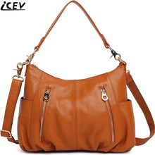 Designer Brand Cowhide Women Messenger Bags Handbags Famous Brands Lady's Bag Made Genuine Leather bag - ICEV Judy Store store
