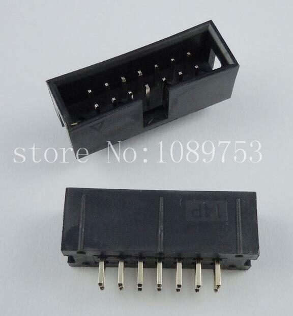 100pcs IDC Box header DC3 DC3-14P 2x7 14 pins 14P 2.54mm Pitch<br><br>Aliexpress