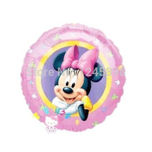 Wholesale 18inch minnie balloon 50pcs/lot minnie festa helium foil ballons mylar baloons for engagement party,birthday,wedding
