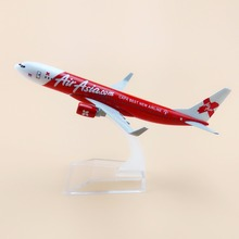 16cm Alloy Metal Airplane Model Air Asia CAPA BEST NEW Airline B737 Boeing 737 Airways Plane Model W Stand Aircraft(China)