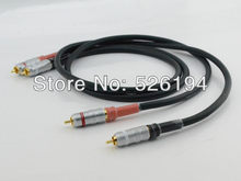 Free shipping pair moonsaudio ALPHA P2.1 PCOCC Audio interconnect Cable with silvrlink RCA connectors(China)