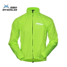 Mysenlan Cycling Sports Men Wear Riding Breathable Reflective Jersey Cycle Clothing Long Sleeve Wind Coat Jacket free shipping