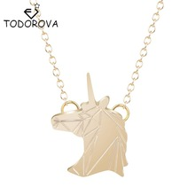 Todorova Unicorn Pendant Designer Horse Animal Necklaces & Pendants Womens Clothing Accessories Vintage Jewelry Christmas Gifts(China)