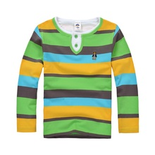 Top quality kids boy polo shirt for boys girls school uniform solid t shirts summer long sleeve cotton children shirt(China)