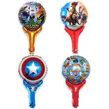 Cartoon handheld stick aluminum balloons wholesale Star Wars shield mad dogs patrol the city animal child birthday party globos