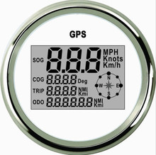 Top Quality!!! 85mm White Digital GPS speedometer speed indicator Speedo Instrument Meter PLG3-WS-GPS (910-00031)