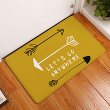 decorUhome Entrance Waterproof Door Mat Geometry Arrow Kitchen Rugs Bedroom Carpets Decorative Stair Mats Home Decor Crafts