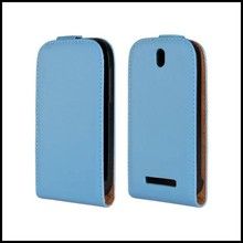 For HTC Desire SV Phone Accessory Protective Back Cover Genuine Leather Mobile Flip Case For HTC Desire SV T326e(China)