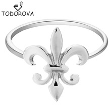 Todorova 10pcs Vintage Accessories Fleur de Lis Rings for Women Men's Party Rings Jewelry Bague New Fashon Gift