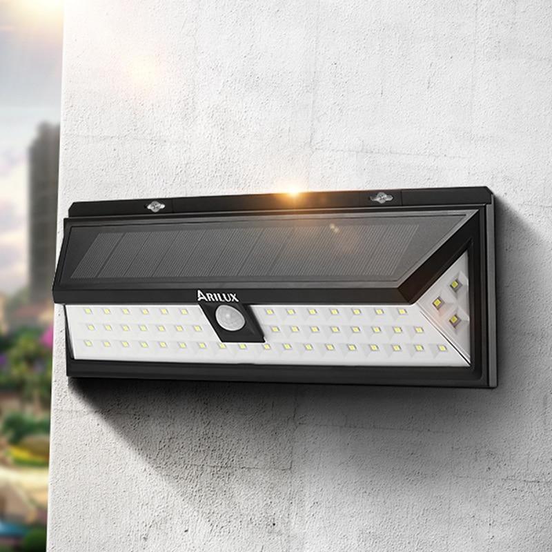 ARILUX AL-SL10 Solar Power 6W PIR Sensor 54 LED Solar Light Outdoor Garden Light Waterproof Security Wide Angle Wall Lamp<br><br>Aliexpress