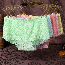 Buy Sexy Underpants Women Boxer Shorts Lace Panties Boyshort Female Knickers Full Lace Transparent Boxers Underwear Hollow Hot